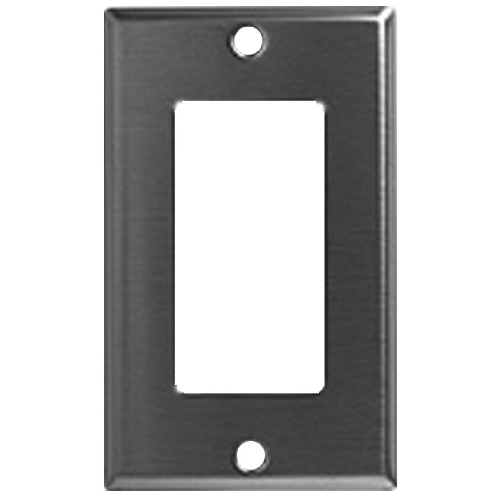 Decorator Wall Plate - 1-Gang - Standard - Stainless Steel