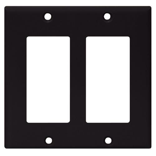 Decorator Wall Plate - 2-Gang - Standard - Black