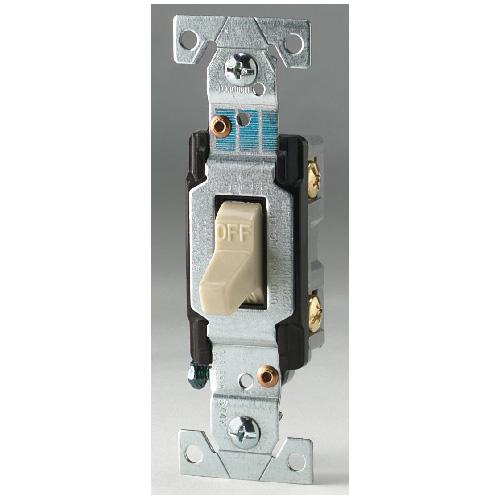 Toggle Switch 1 Pole - 15A - 120-277 V - Ivory