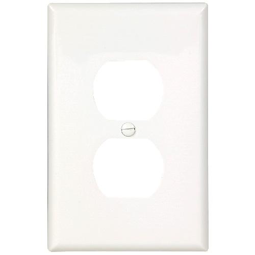 Plaque pour prise, 1 duplex, blanc