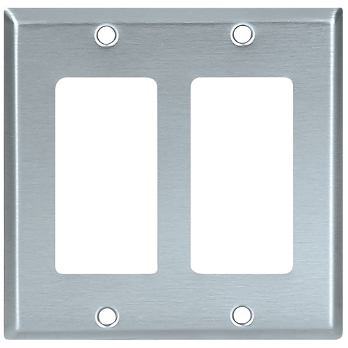 Decorator Wall Plate - 2-Gang - Standard - Stainless Steel