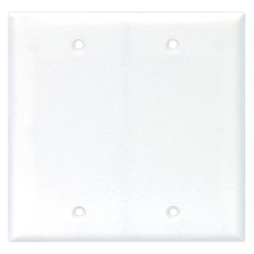 2-Gang Wallplate - White