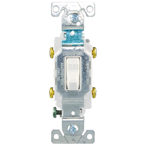 Toggle Switch - Commercial Grade - 15A - 120/277V - White