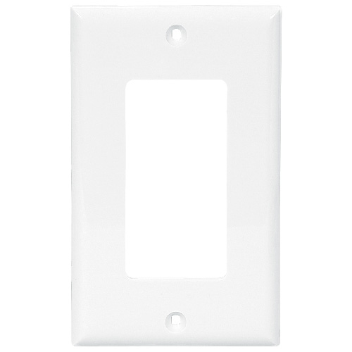 Cooper 1-Gang Decorative Wall Plate - Nylon - White - 2 3/4-in W x 4 1/2-in H