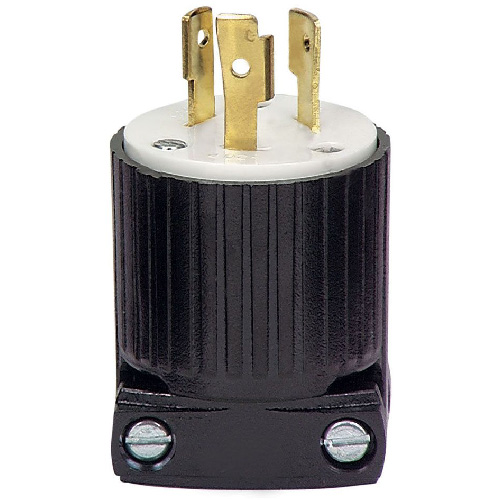 Locking Receptacle - Polycarbonate - 2-Poles/3-Wires - 20A/250V