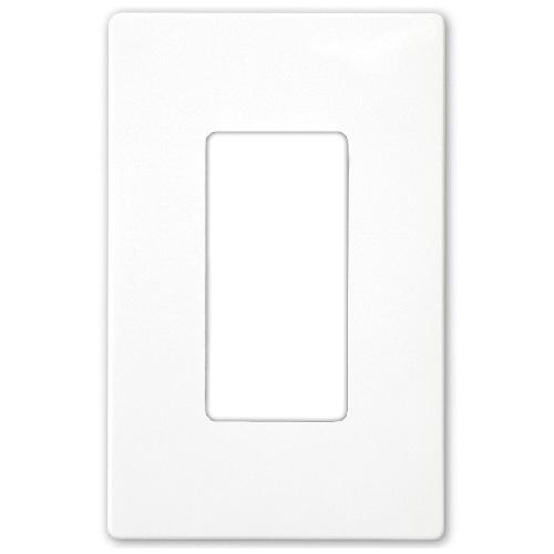 Plaque sans vis prise simple Decorator, blanc