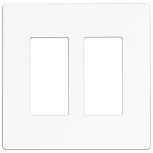 Eaton 2-Gang Wall Plate - Screwless - Polycarbonate - 4 7/8-in W x 4 1/2-in L