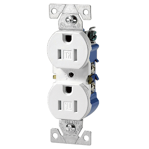 Tamper Resistant Duplex Receptacle - 125 V - Thermoplastic