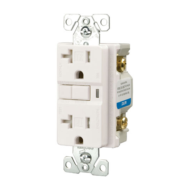 Cooper Wiring Device Receptacle Gfci Duplex Receptacle Trvgf20w