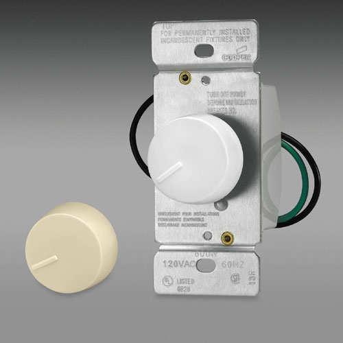 Rotary Dimmer Non-Preset - Thermoplastic - 600 W