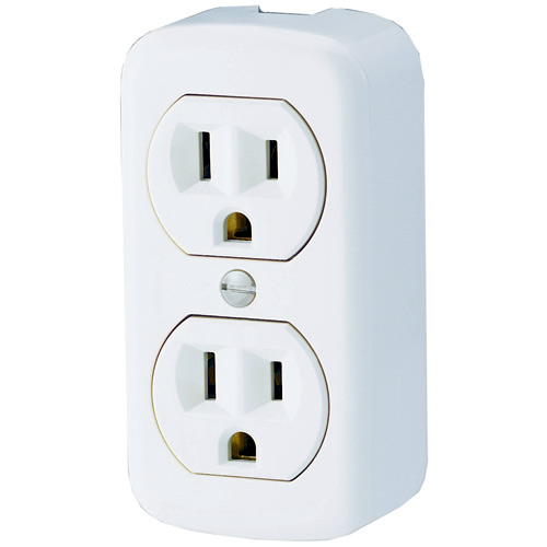 Duplex Surface Receptacle - 2poles/3wires - 15A - 125V