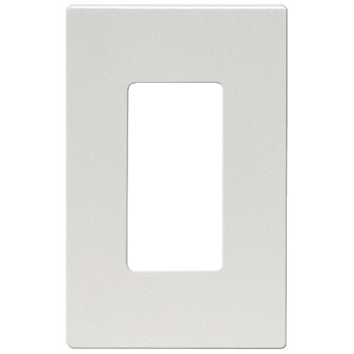 Screwless Wall Plate - 1-Gang - Mid Size - Silver Granite