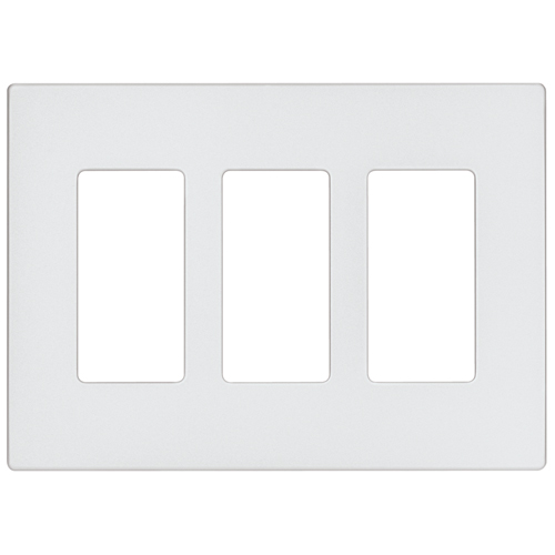 Screwless Wall Plate - 3-Gang - Mid Size - Silver Granite