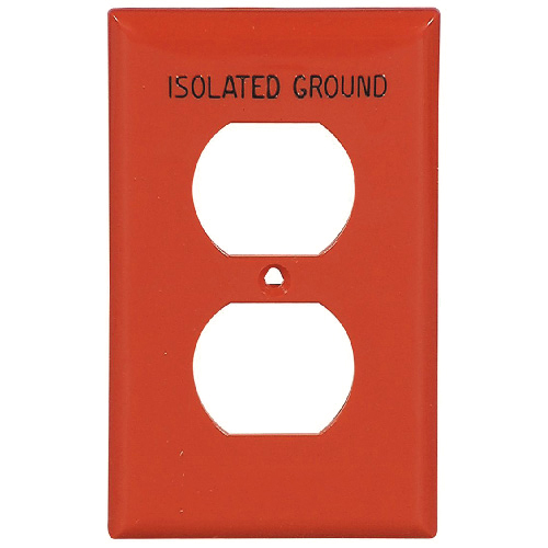 Simple Wall Plate - Duplex - Nylon - Red