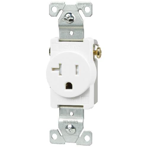 Single Receptacle Tamper Resistant - 20A - 125V - White