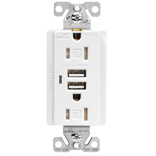 Dual USB Charger Duplex Receptacle