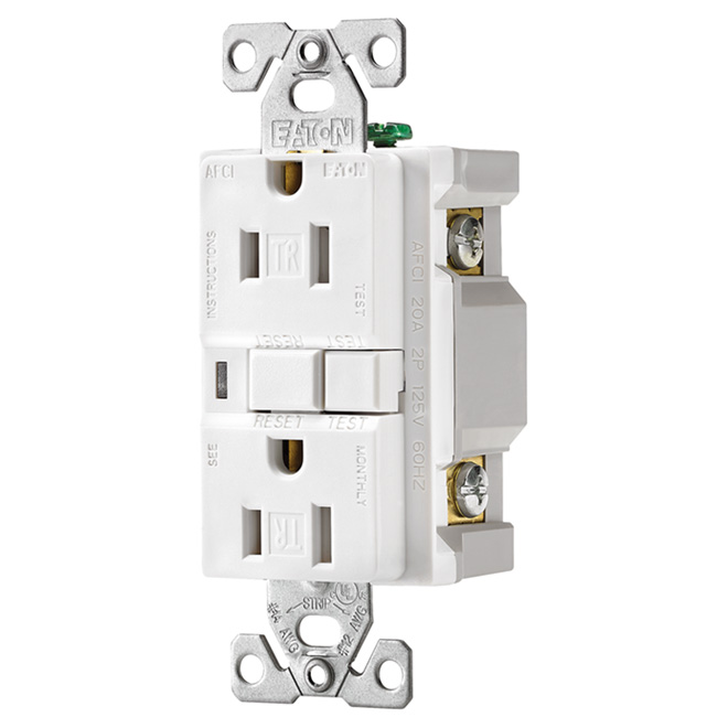 125 VAC 15 A Tamper Resistant Receptacle 2 Poles/3 Wires