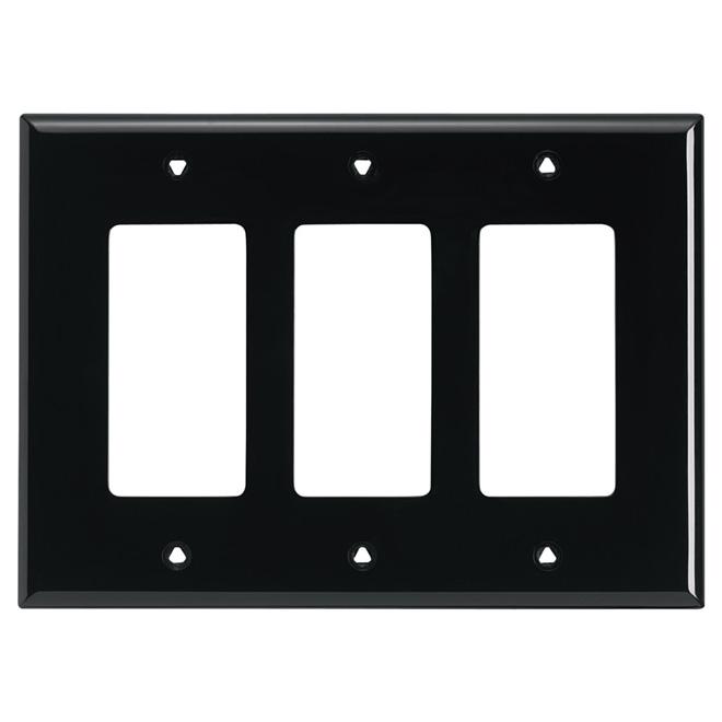 Plaque murale « Decorator », 3 prises, noir