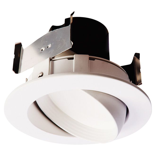 "Adjustable Dimmable Recessed Retrofit Kit - LED - 4"" - White"