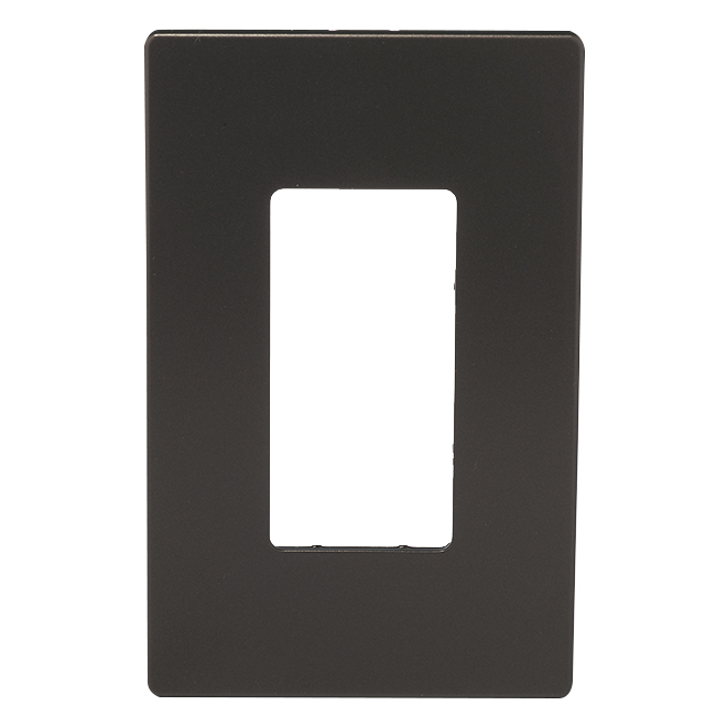 Screwless Wall Plate - 1-Gang - Bronze