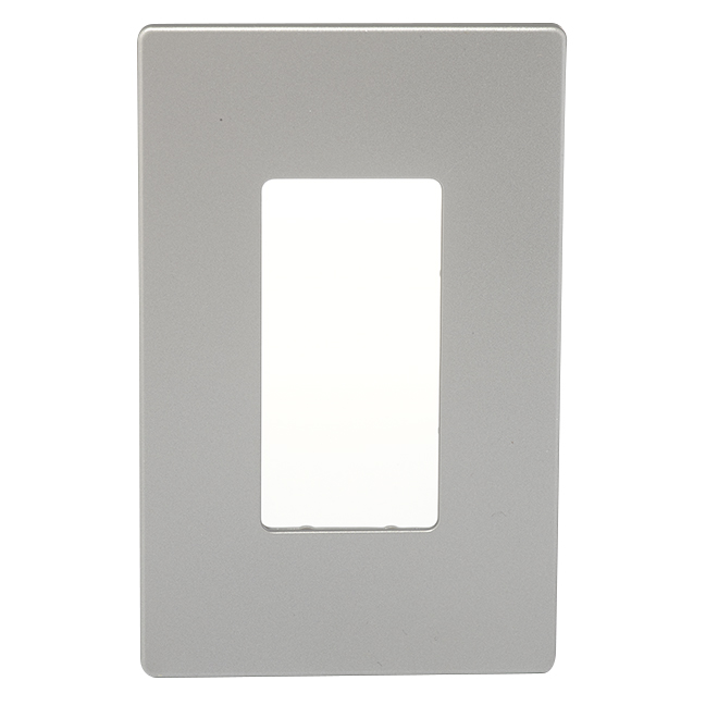 Screwless Wall Plate - 1-Gang - Silver