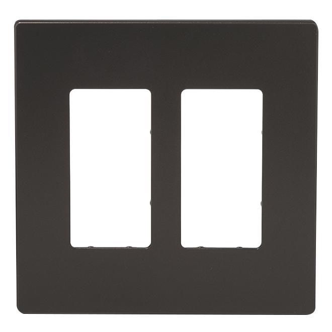 Screwless Wall Plate - 2-Gang - Bronze