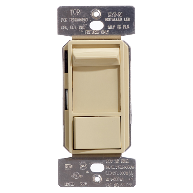 Universal Toggle Dimmer - 600 W - 120 V - Ivory