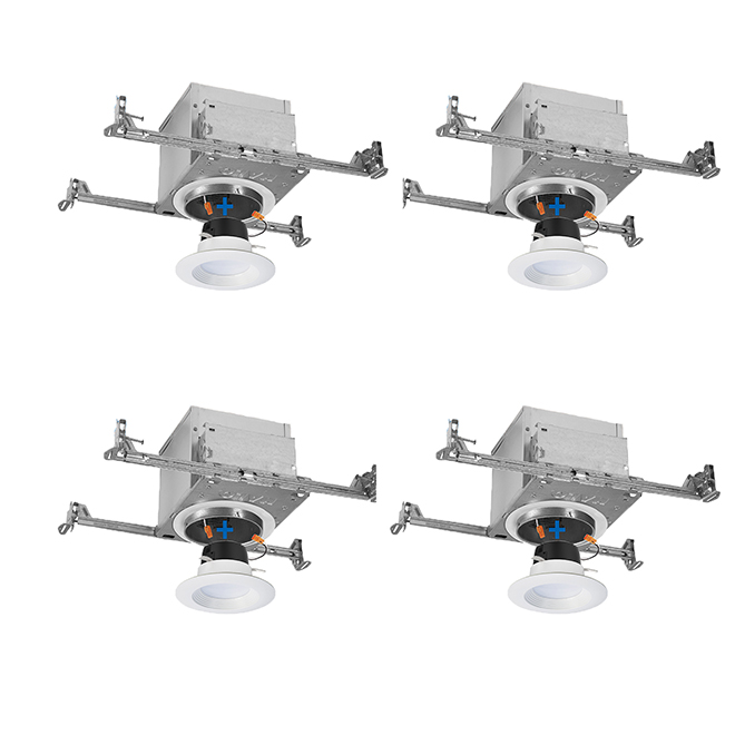 IC Air-Tite Recessed Lighting LED Housings and Trims - 4/PK