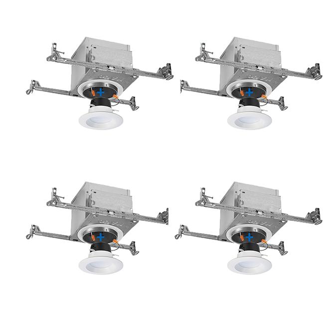 Boîtier et garniture, luminaire encastré Air-Tite IC, pqt 4