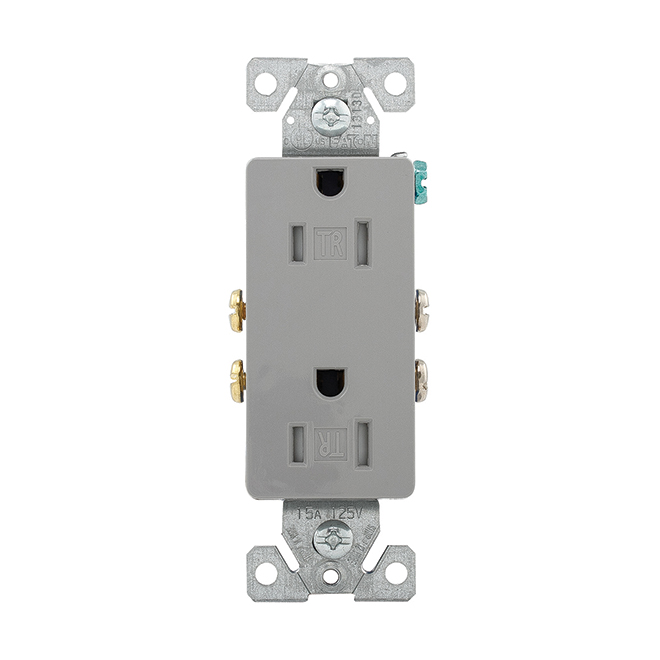 2 Poles Outlet - 125 V - 15 A - Grey