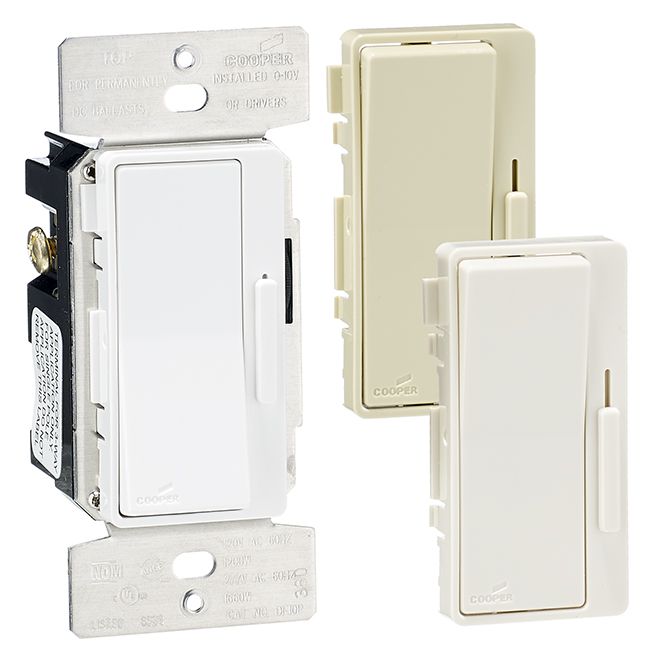 Decorator Dimmer with Preset - 1200 W - 120 V - White
