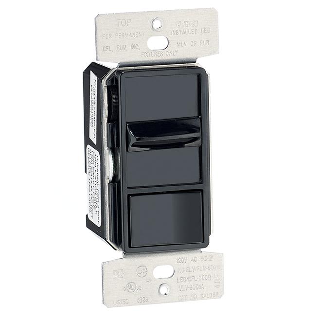 Universal Slide Dimmer - 600 W - 120 V - Black
