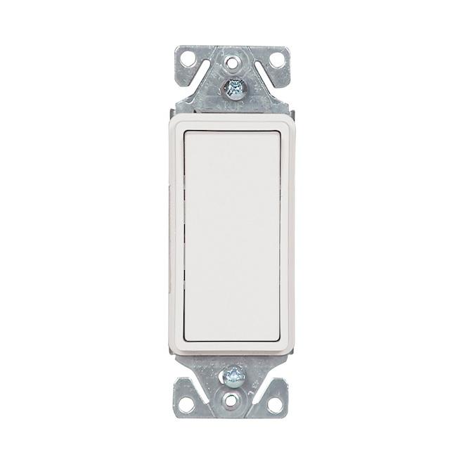 Interrupteur lumière à bascule Eaton unipolaire 15A blanc 10-paquet