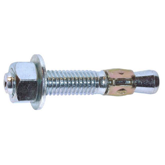 Ancrages à cale pour béton Cobra, 1/2 po de diamètre x 4 1/4 po L., boîte de 50, acier, robustes