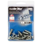 """Walldriller"" Self-Drilling Anchors and Screws - #6 - 12 PK"