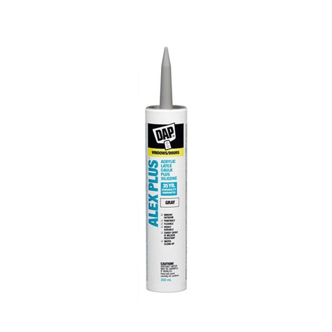 ALEX PLUS Caulk - Acrylic Latex Plus Silicone - 300ml - Gray
