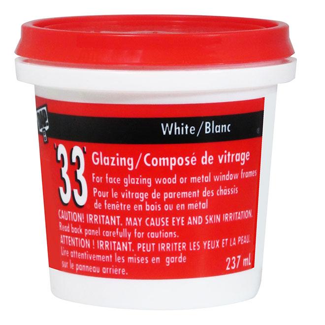 Mastic de vitrier 33, 237 ml, blanc