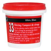 Mastic de vitrier 33, 237 ml, blanc