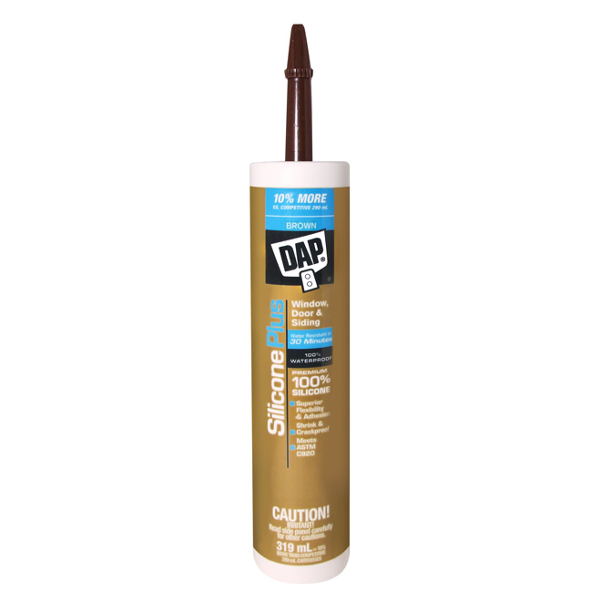 Silicone Rubber Window & Door Sealant - 319 ml - Brown