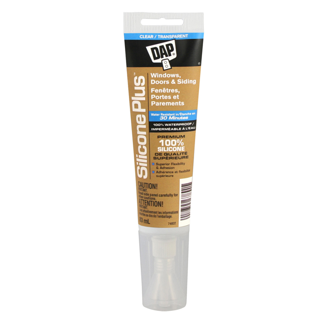 Silicone Plus(TM) Window and Door Sealant - 83 ml - Clear