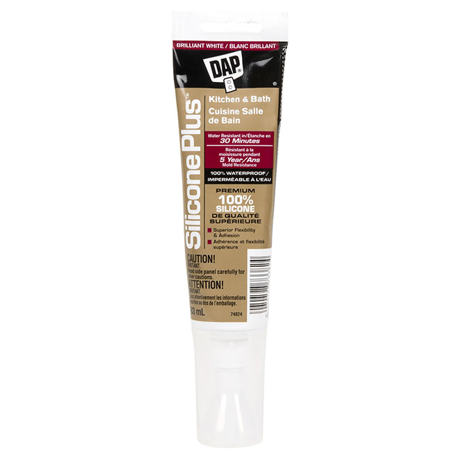 Silicone Plus(TM) Kitchen and Bath Sealant - 83 mL - White