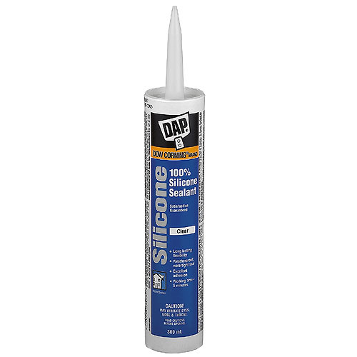 DAP 100% Silicone Window and Door Sealant - 300 ml - Clear 73473 | RONA