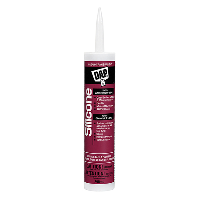 Kitchen and Bath 100% Silicone Sealant - 290 ml - Clear