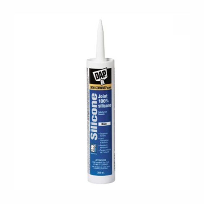 100% Silicone Window, Door & Siding Sealant - 300 ml - White