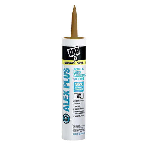 ALEX PLUS Caulk - Acrylic Latex Plus Silicone - 300ml - Tan