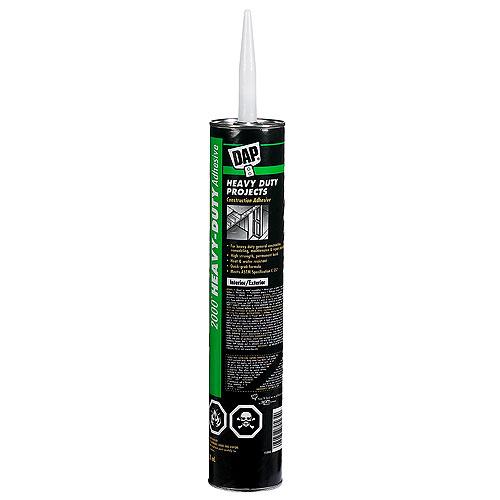 Heavy-Duty Projects Construction Adhesive - 828 ml - Gray