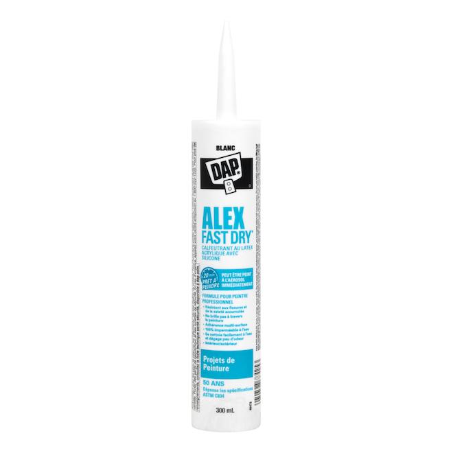 Scellant ALEX FAST DRY, acrylique et silicone, 300ml, blanc