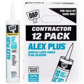 ALEX PLUS Caulk - Acrylic Latex Plus Silicone - 12/Box - White