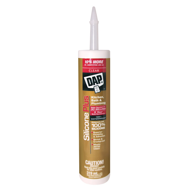 100% Silicone Sealant - Clear - 319 mL