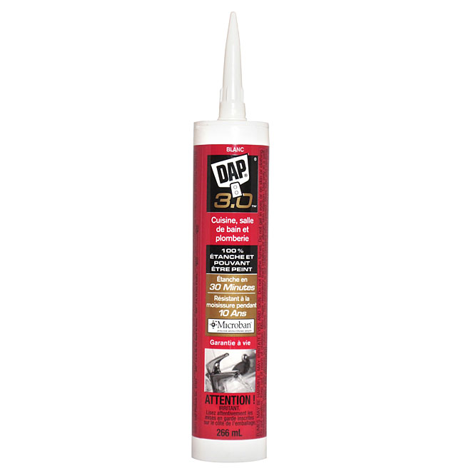 3.0 Sealant - Kitchen, Bath and Plumbing - 266 ml - White